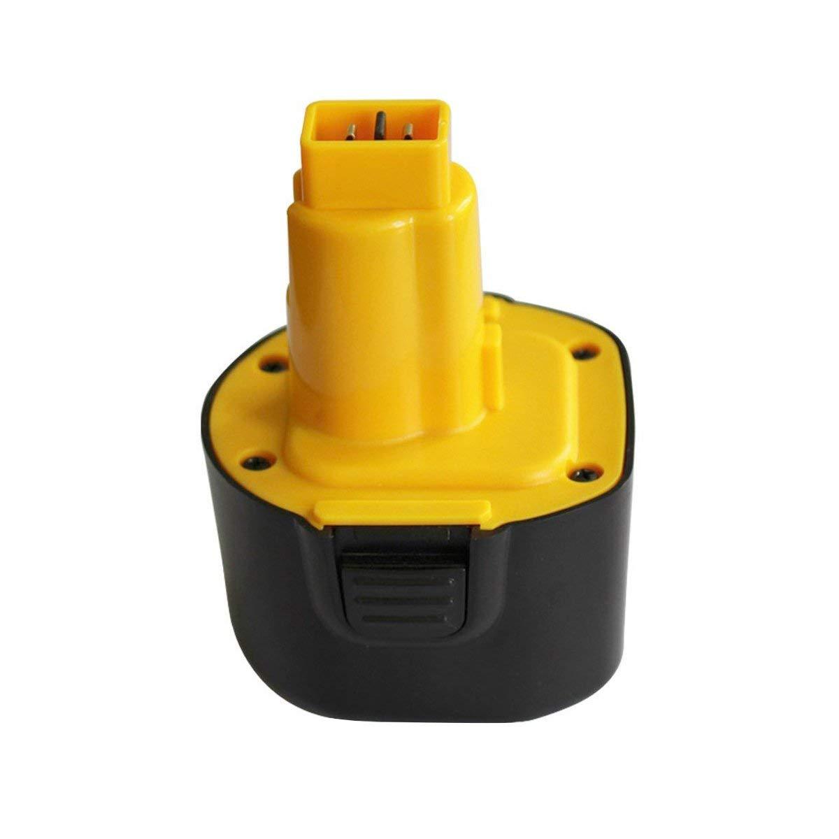 9.6V 2.0Ah DeWalt DW9062 DW9061 DE9036 DE9061 DE9062 DW9614 DW050 Replacement Battery (Also Compatible with Black and Decker PS120 Battery)