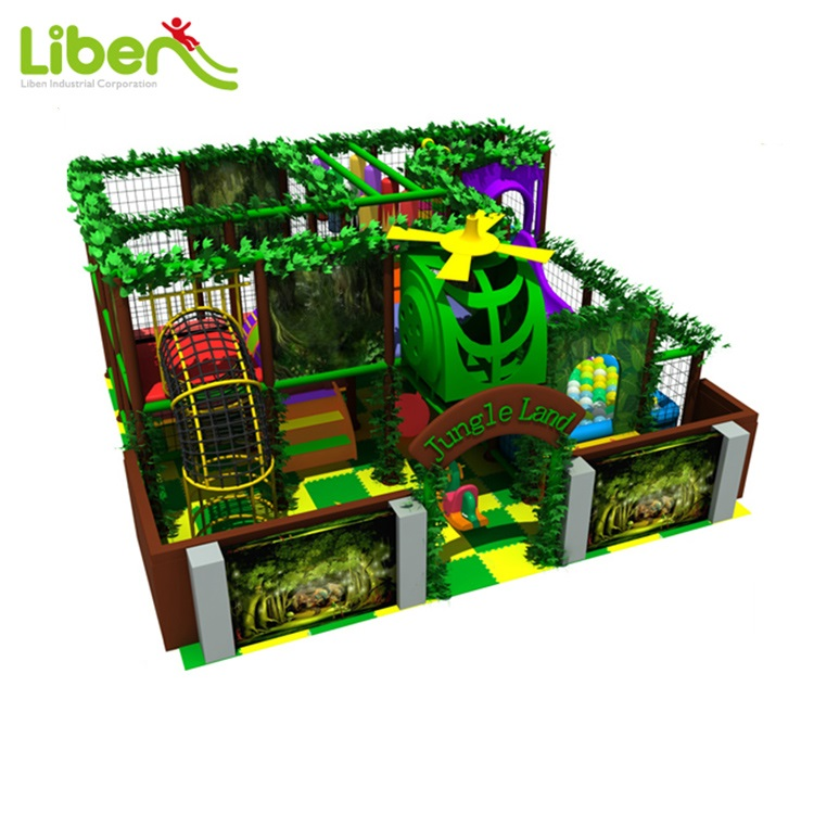 Commercial Kids Plastic Indoor Playground Inflatable Gym Jungle Playground