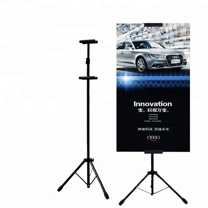 No Moq Limited High Quality 180cm tripod Iron T Stand Poster Stand for <strong>retail</strong> store
