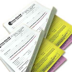 2 -4 Part Carbonless Forms NCR Forms Printing