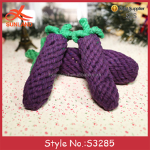 S3285 new 2017 amigurumi vegetable patterns eggplant plush stuffed crochet toys for pets