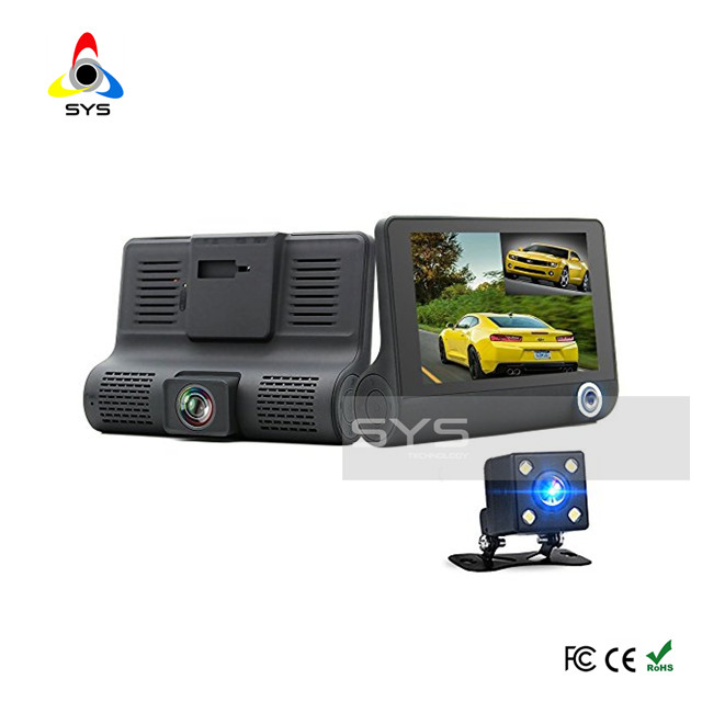 Dual Car Camera for Inside Vehicle traveling data recorder 170 degree Wide Angle Two Channel Dashboard Black Box
