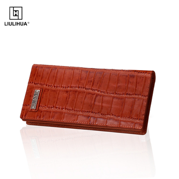2c502013ea01 High Quality Crocodile Texture Leather Purse Fashion Genuine Cow Leather  Folding Long Wallet For Man - Buy Leather Purse,Man Leather Wallet,Long ...