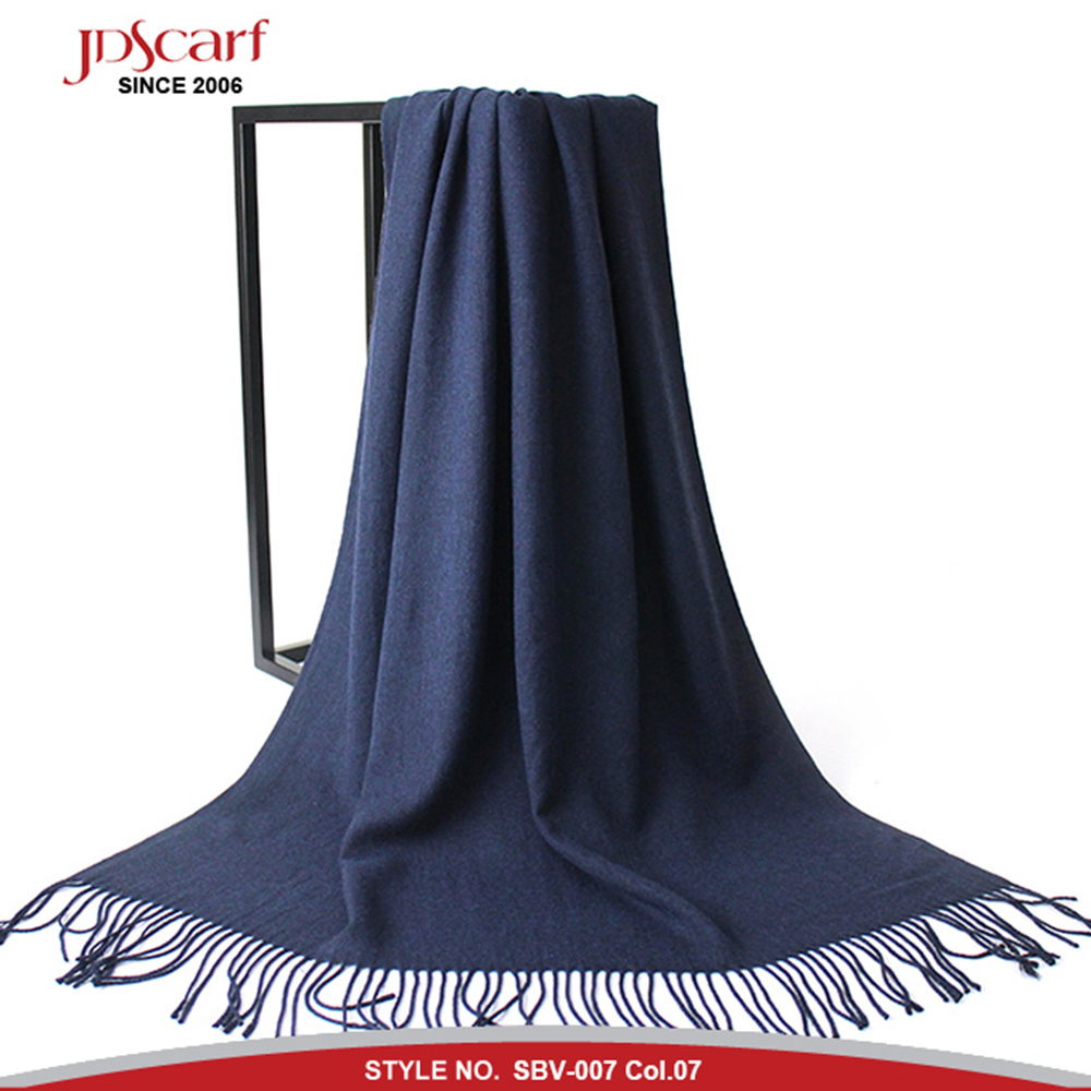 Manufacture hot selling brush cashmere solid color pashmina <strong>scarf</strong>