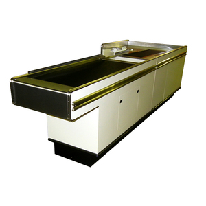 Customized competitive price durable retail cashier counter table