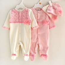 Wholesale spring autumn infants toddler 100% cotton babies newborn baby clothes romper