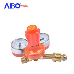 Orange color strong brass body gas lpg pressure regulator for cutting and welding purpose