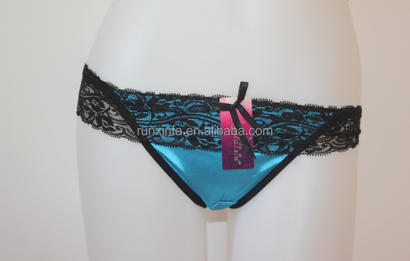 stain sexy panties with lace T-back brief lingerie