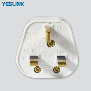 13A EU UK 3 Square Pin Flat Plug With CE Approved