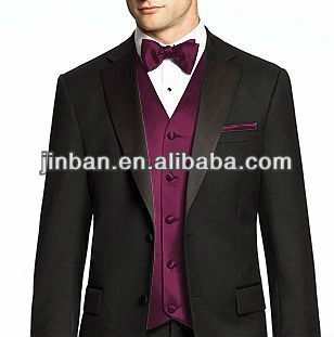 Mens Woven Purple Wedding Vest Tie Set Product On Alibaba