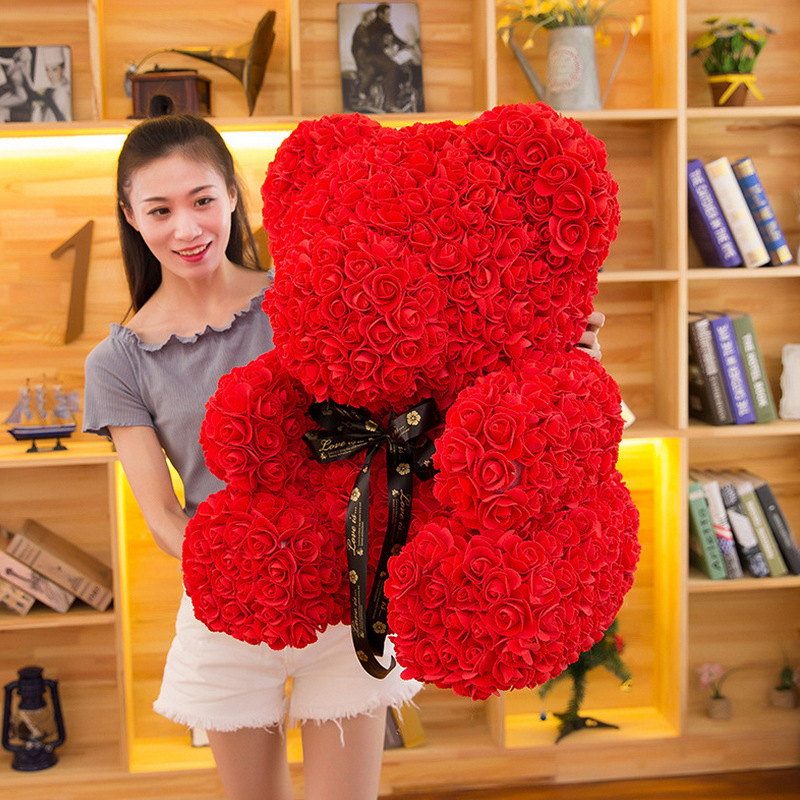 Event & Party Home & Garden Diy Artificial Rose Bear Dolls Cute Anniversary Gift Eternal Rose Flower Bear Funny Craft Toys For Women Birthday Gift 2018 Great Varieties