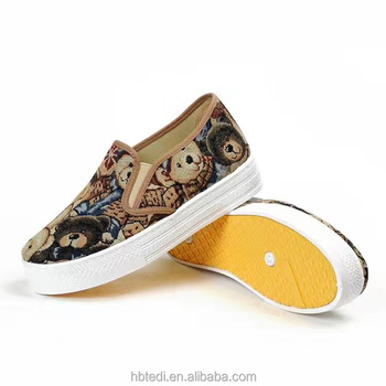 china old beijing printing custom printed canvas shoes with canvas