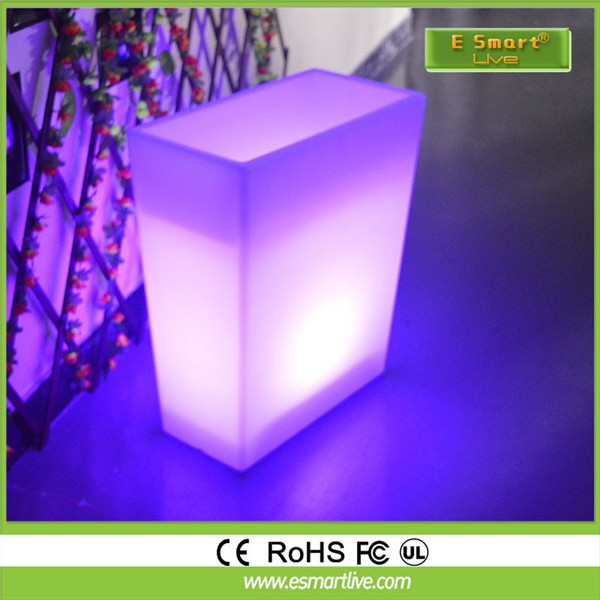 tall vase lighting garden. Tall Square LED Flower Pots\u0026planters, Glowing Vase, Light Up Garden Pots\u0026planters Vase Lighting