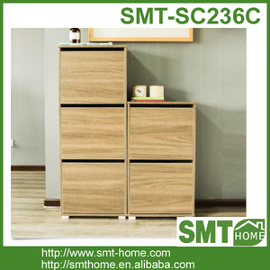 Honey cube shoe cabinet wooden PB with cheap price