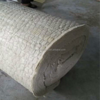Mineral wool with wire mesh