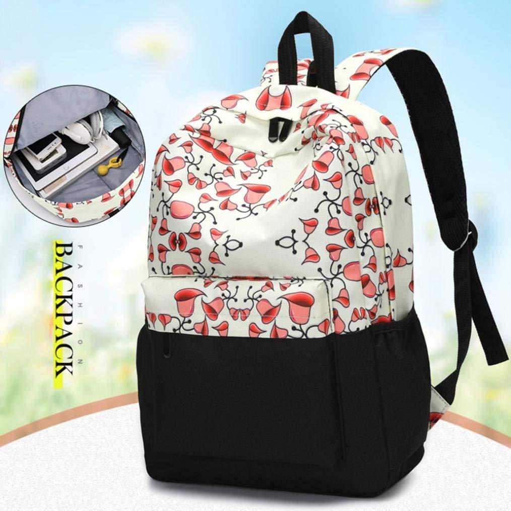9c495a6e83e5 Get Quotations · Coohole 2017 Girl Canvas Shoulder School Bag Backpack+Crossbody  Tote Bag+Clutch Purse