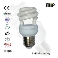 6000H half spiral T2 9W E27 127v 6400k Energy saving lamp bulb