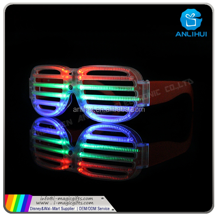 Glow in The Dark Evening Party EL Wire LED Glasses