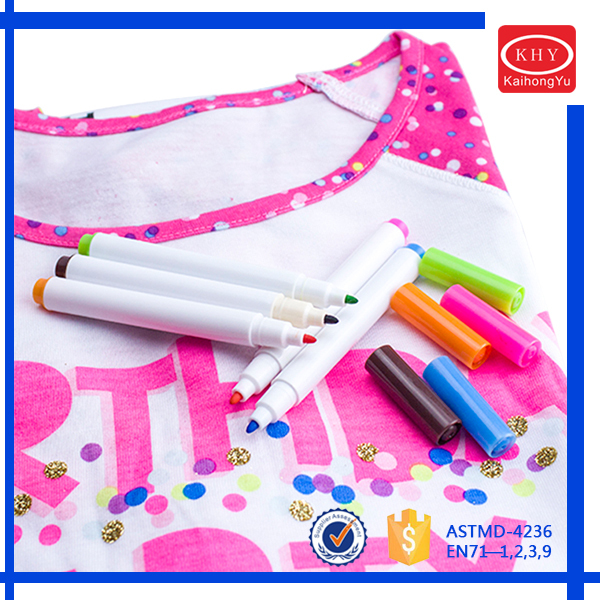 Advertising Assorted Colors Permanent Fabric Marker Promting for Cloth
