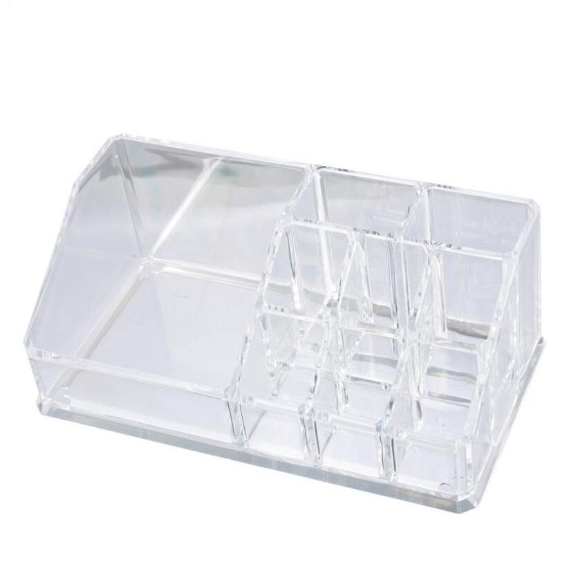 Makeup Organizer Storage Box Women Jewelry Container Crystal Acrylic Cosmetic Storage Holder Clear Display Organizer Box