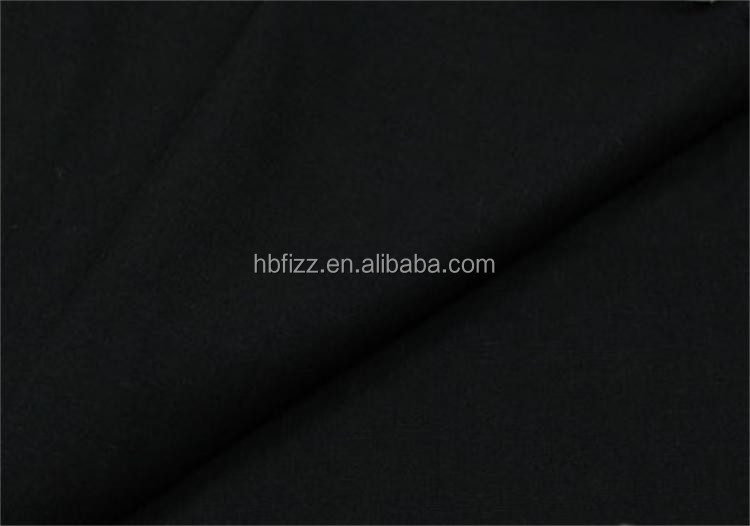 Black color 100cotton hight quality fabric in china textile fabirc