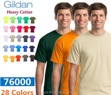 plain dyed unisex heavy cotton Gildan short sleeve 7600 Round neck t shirt wholesale or custom your logo on it
