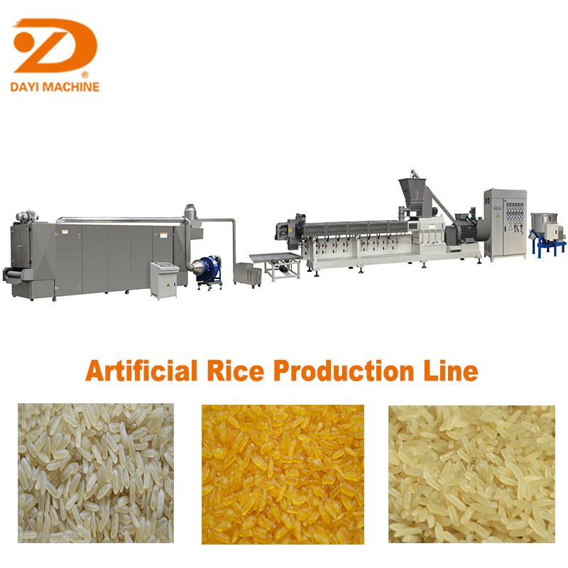 single screw artificial rice extruder machine/ artificial rice process line/ artificial rice making machine