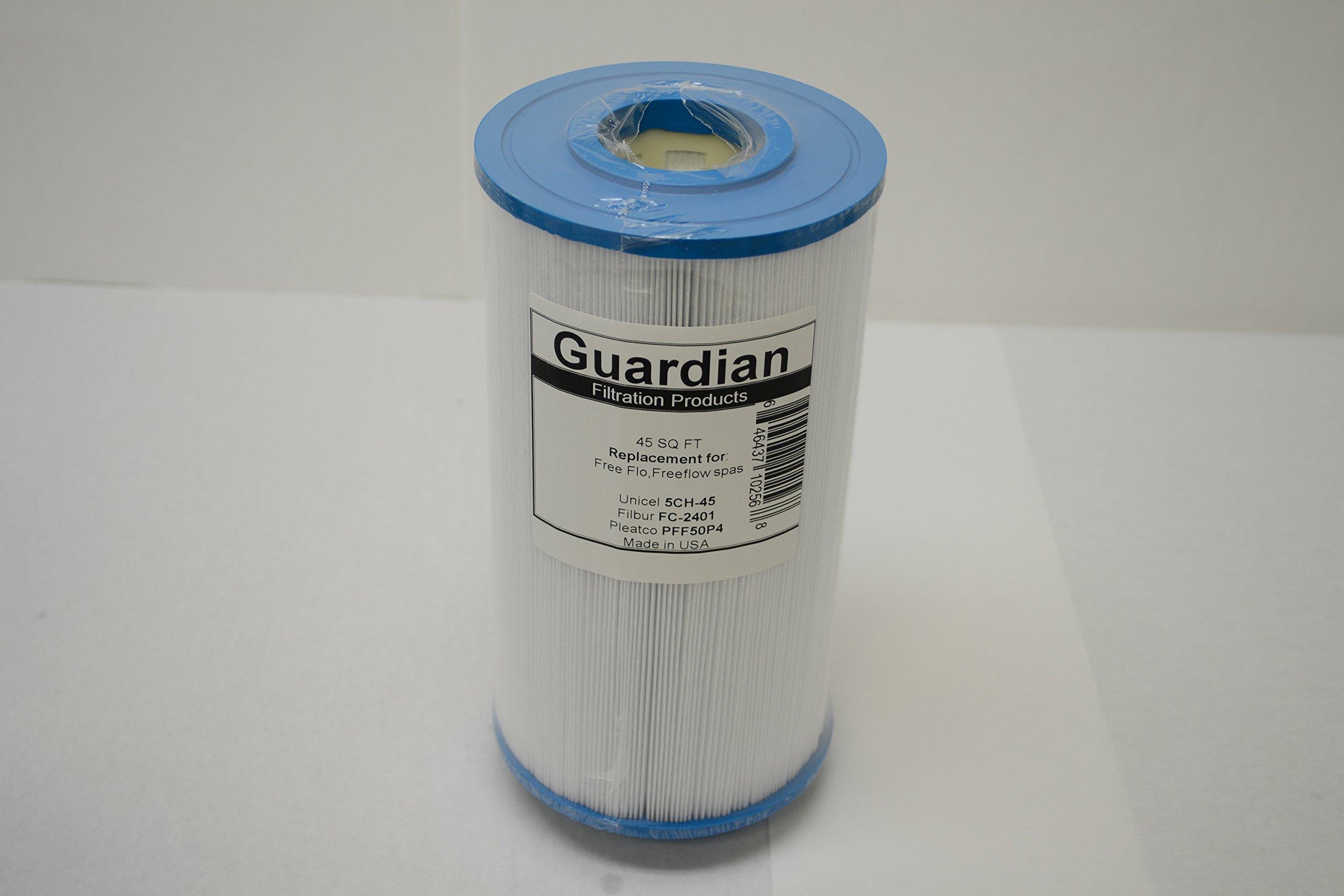 Guardian pool/spa filter fits:Pleatco: PFF50P4 | Unicel: 5CH-45 | Filbur: FC-2401freeflo,freeflow, aquaterra spas
