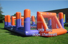 inflatable football pitch for party / air football game field rentals / soccer pitch for rents