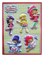 2013 Kids 3d Strawberry Shortcake Room Decor Wall Sticker - Buy ...