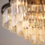 Wholesale Vintage Black Iron Frame Clear Crystal Ceiling Pendant Lamp Lighting for European Project