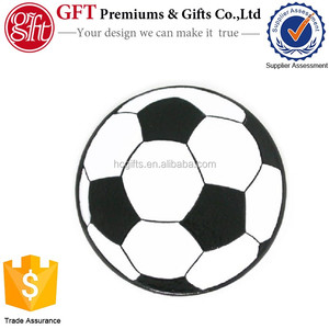 Custom 1 Inch Metal Silver Plated Coloring Enamel Filled Soccer Pin