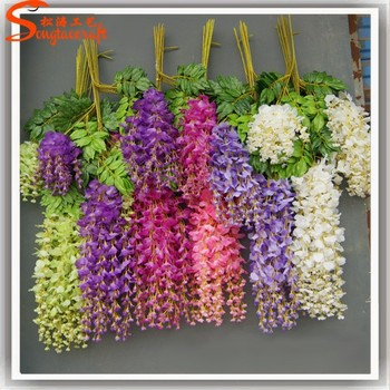 china factory import silk flowers of artificial wisteria flower wholesale silk flowers for. Black Bedroom Furniture Sets. Home Design Ideas