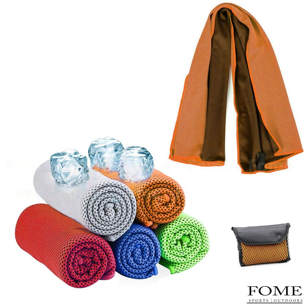 Cooling Towel, FOME SPORTS|OUTDOORS Ice Cooling Sweat Absorption Quick-Dry Sun Protection Microfiber Fabric Towel 39 x 12inch for Running Gym Yoga All Outdoor Sports