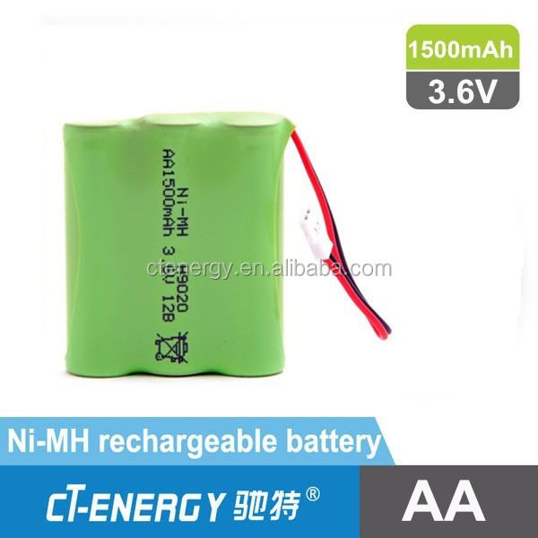Nimh battery AA, AAA 1.2V/3.6V/4.8V rechargeable battery for toys with molex and wire
