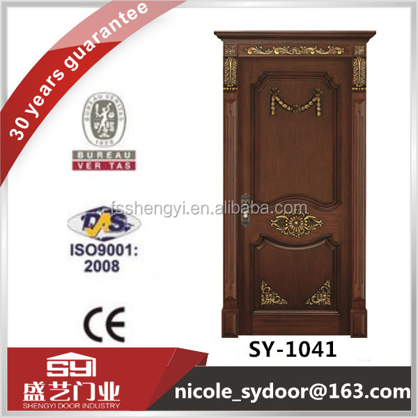 Classic carft walnut color solid wood door