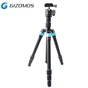 Gizomos new released model super compact tripod kit with Aluminum tripod leg for digital camera slr and dslr
