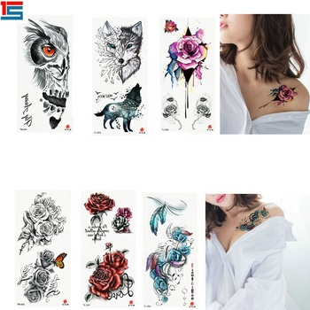 China 2015 hot koop 3d tijdelijke tattoos, flash tatoeages, 3d tattoo stickers