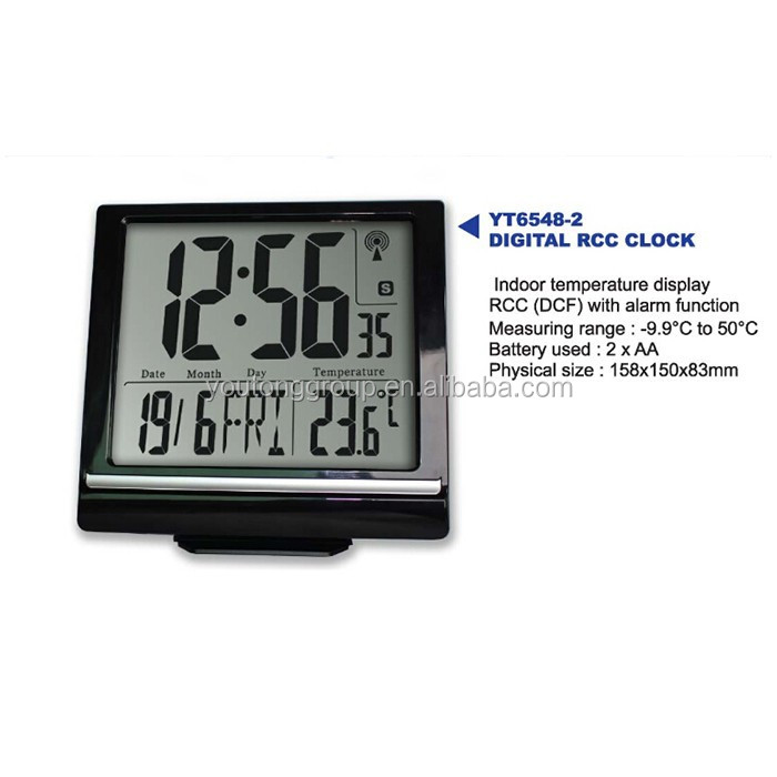 weather forecast lcd alarm clock