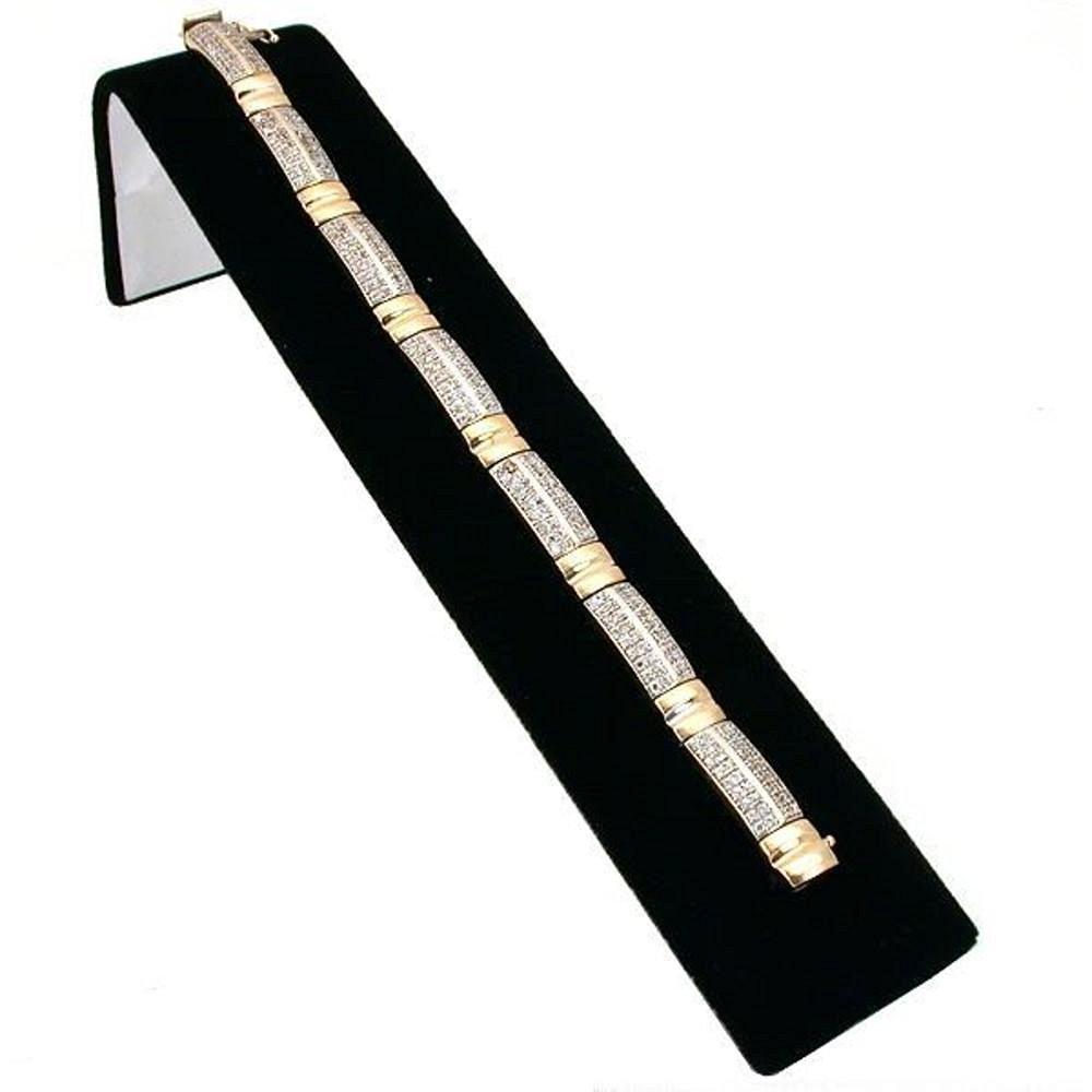 "Black Velvet Bracelet Display Ramp Jewelry Showcase 8"""