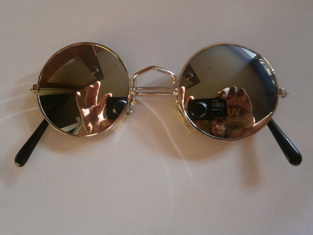 Sunglasses John Lennon Style Glasses 70s Design Round New Hippie ...