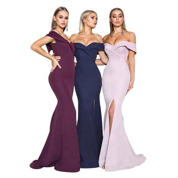 d70432951481e Última sirena vestidos noche largo Alibaba Vestido largo de dama de honor  fiesta estilo mixto