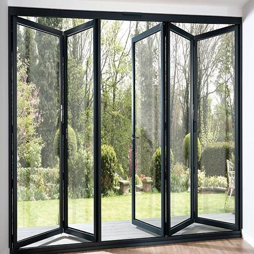 standard aluminum sliding folding glass door bifold door