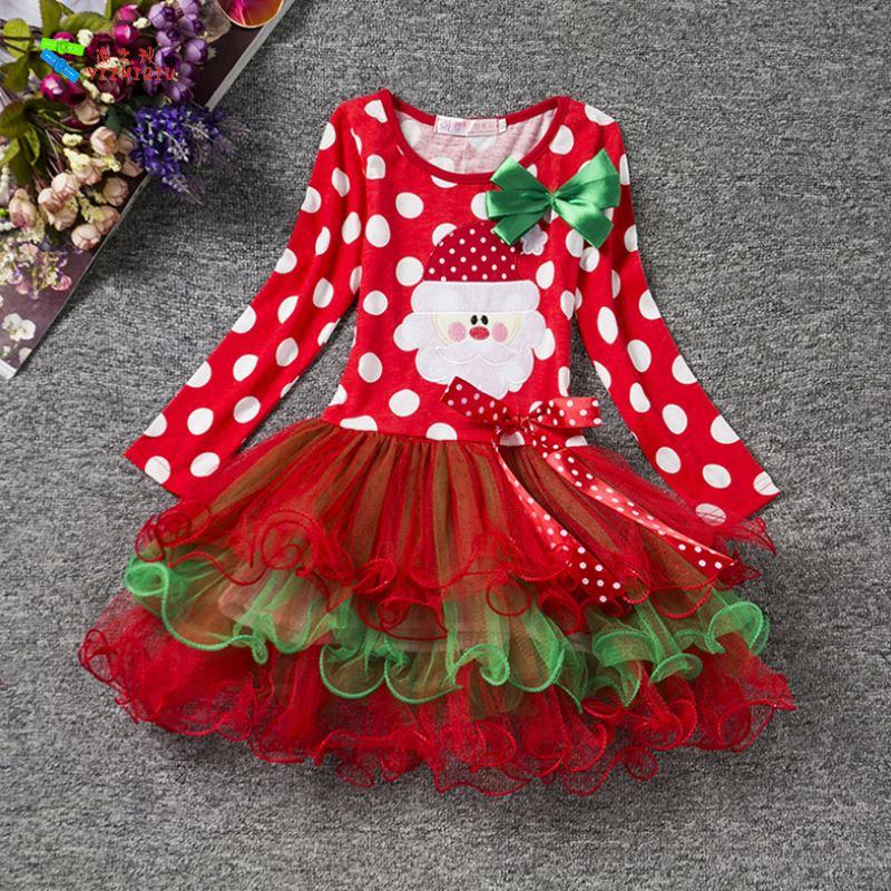 YIZHIQIU Christmas Children Lace Princess Cotton Girl Dress
