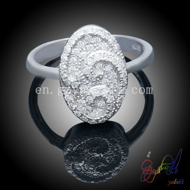 Handmade cubic zircon rings oral tender 925 sterling silver ring 2013 stylish silber rings