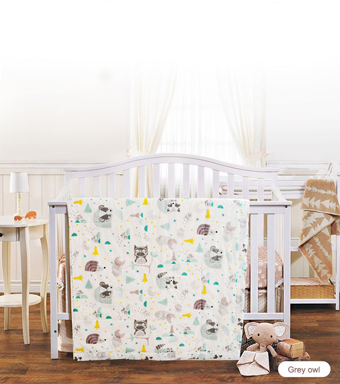 Custom Printing Pattern gauze cotton baby muslin swaddle blanket for newborn baby and children