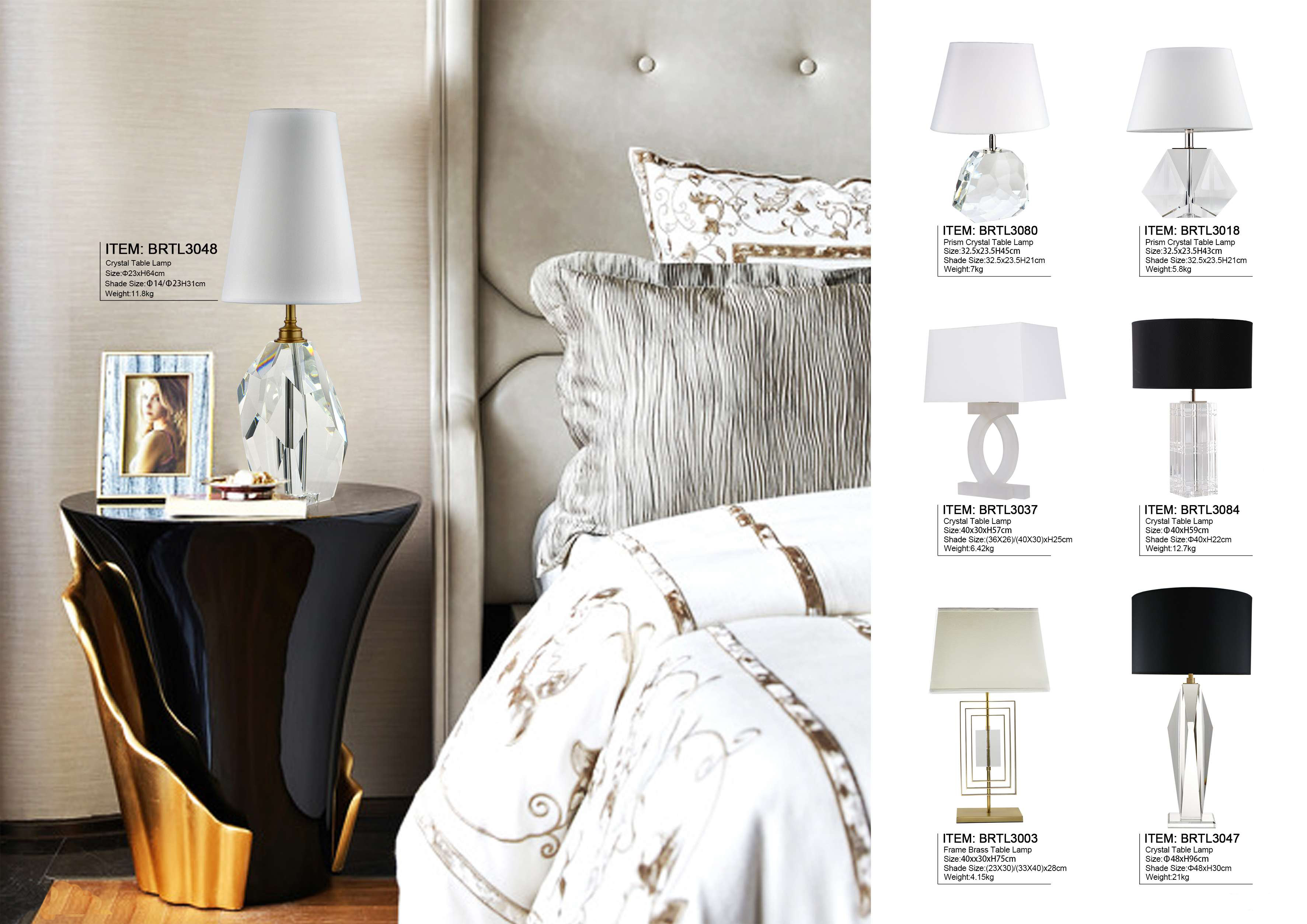 Prism Crystal Table Lamps