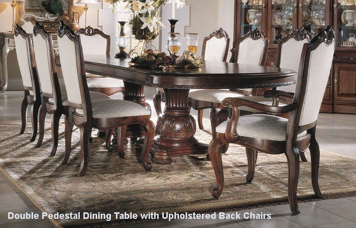 American Drew Bob Mackie Seven Piece Double Pedestal Table Dining ...
