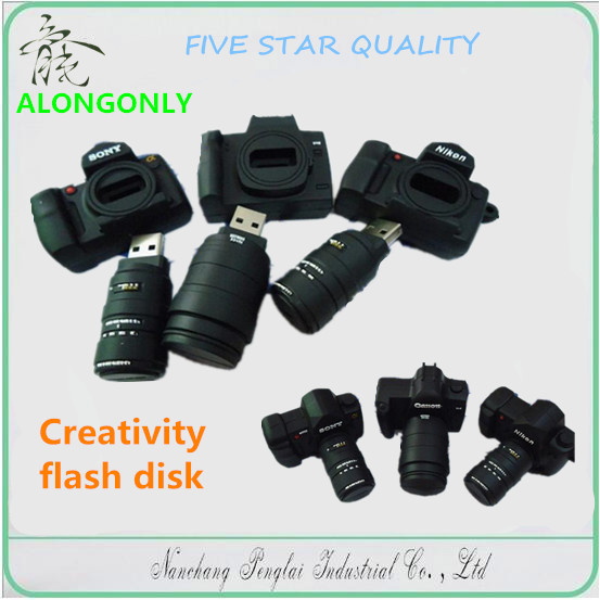 Creativity flash disk Custom logo mini camera model U disk