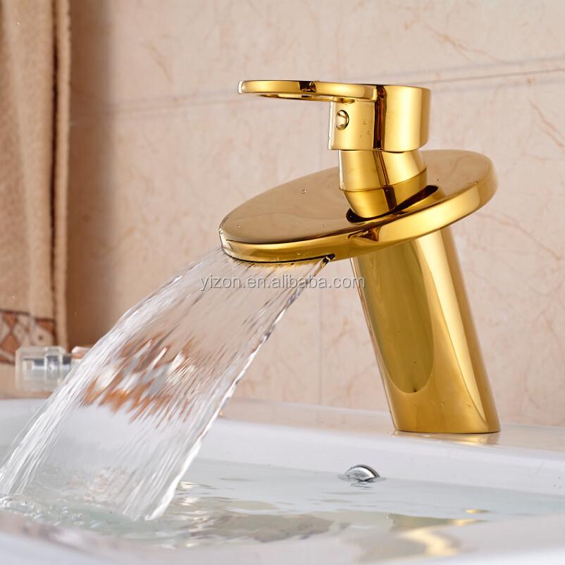 lusso deck mount una maniglia bacino lavandino rubinetto in ottone dorato bagno vanity lavello miscelatore rubinetti